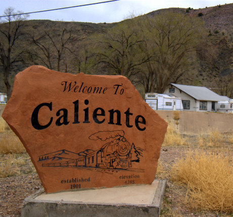 Small Nevada town, Caliente NV